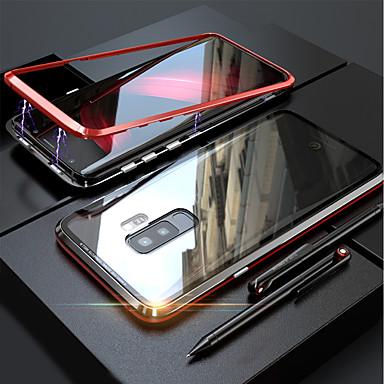 hoesje Voor Samsung Galaxy Galaxy S10 / Galaxy S10 Plus Magnetisch Volledig hoesje Effen Hard Gehard glas voor S9 / S9 Plus / S8 Plus