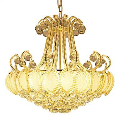 ZHISHU 8-Light Lusteri Ambient Light Electroplated Metal Crystal, LED 110-120V / 220-240V Meleg fehér / Bijela Bulb Included / E12 / E14