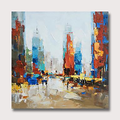 Hang-malované olejomalba Ručně malované - Abstraktní Krajina Moderní Bez vnitřní rám