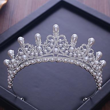 100% Vero Lega Diademi Con Con Diamantini - Perle False 1 Pezzo Matrimonio - Compleanno Copricapo #07340157 In Molti Stili