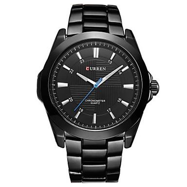 Χαμηλού Κόστους Ανδρικά Ρολόγια-CURREN Ανδρικά Αθλητικό Ρολόι Ιαπωνικά Γιαπωνέζικο Quartz Μαύρο / Λευκή 30 m Ανθεκτικό στο Νερό Καθημερινό Ρολόι Αναλογικό Καθημερινό Απλός ρολόι - Μαύρο Μαύρο / Άσπρο Μαύρο / Λευκό