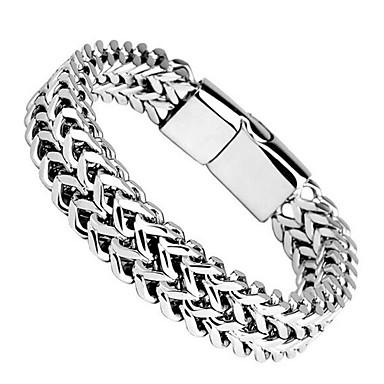 voordelige Herensieraden-Heren Armband Dikke ketting XOXO modieus Titanium Staal Armband sieraden Zilver Voor Dagelijks