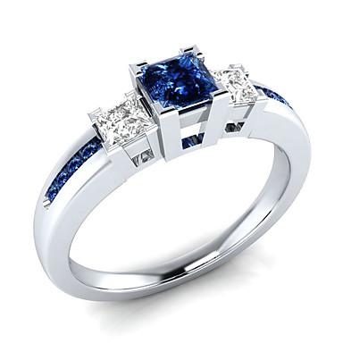 levne Prsteny-Dámské Bílá Kubický zirkon Prsten Moderní Elegantní Fashion Ring Šperky Modrá / Růžová / Světle zelená Pro Svatební