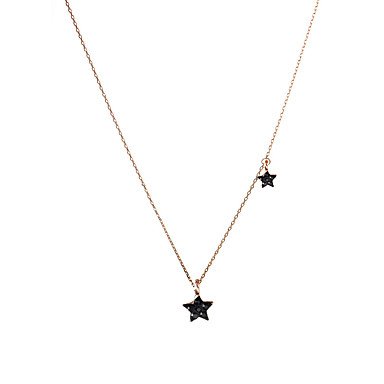 b84bc5039105 Mujer Cristal Collares con colgantes Collar Estrella Simple De moda Coreano  Modern Cool Encantador Dorado 42+6 cm Gargantillas Joyas 1pc Para Regalo  Diario ...