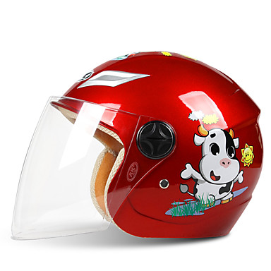 9768263b87f Medio Casco Niños Chico / Chica Casco de la motocicleta Fácil vestidor /  Caso de seguridad infantil / Transpirable
