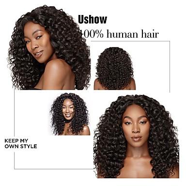 voordelige Weaves van echt haar-4 bundels Braziliaans haar Diepe Golf Onbehandeld haar Menselijk haar weeft Bundle Hair Extentions van mensenhaar 8-28 inch(es) Natuurlijke Kleur Menselijk haar weeft Geurvrij Hot Sale onverwerkte
