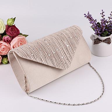 ราคาถูก Shoes & Bags 楼层-สำหรับผู้หญิง กระเป๋าราตรี กระเป๋าจัดงานแต่งงาน เส้นใยสังเคราะห์ สีดำ / สีเงิน / ผ้าขนสัตว์สีธรรมชาติ