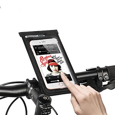 abordables Sacoches de Vélo-ROSWHEEL Sac de téléphone portable Sacoche de Guidon de Vélo 6.2 pouce Ecran tactile Etanche Portable Cyclisme pour Samsung Galaxy S6 Samsung Galaxy S6 edge LG G3 Noir Vélo de Route Vélo tout terrain