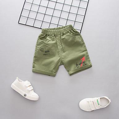 baratos Calças para Meninos-Infantil Para Meninos Activo Básico Estampado Estampado Algodão Shorts Verde Tropa