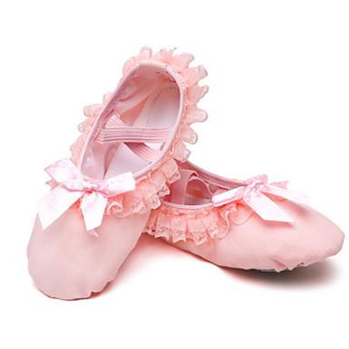 Genç Kız Dans Ayakkabıları Kanvas Bale Ayakkabıları Babetler Düz Taban Pembe / Performans / Egzersiz