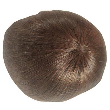 저렴한 가발 & 헤어 연장-남성용 인모 가발 직진 모노필라멘트 새로운 도착 / 착색 / 청년 / 블랙
