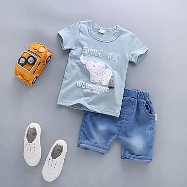 92fc367977a Χαμηλού Κόστους Μωρουδιακά Ρούχα Για Αγόρια-Μωρό Αγορίστικα Καθημερινό /  Βασικό Μονόχρωμο Κοντομάνικο Κανονικό Κανονικό