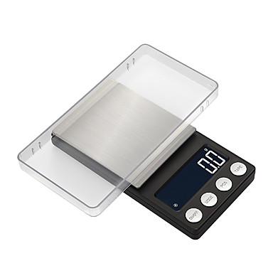 voordelige Test-, meet- & inspectieapparatuur-hoge precisie zak sieraden schalen balans 0.05g-500g draagbare digitale lab gewicht gram schaal medicinaal gebruik