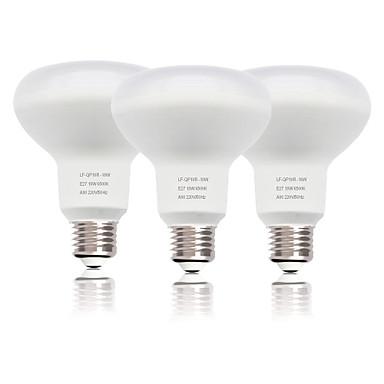 abordables Ampoules électriques-zdm 3pc r80 e27 / e26 ampoule de champignon 18w 1550 lm smd 2835 nouveau design décoratif blanc froid ac220v