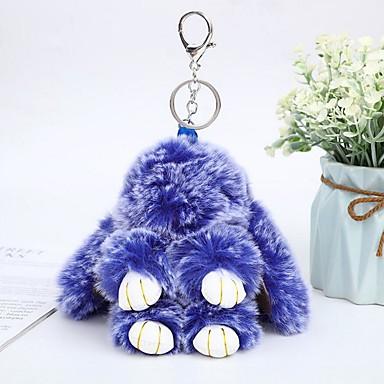 voordelige Dames Sieraden-Sleutelhanger Rabbit Dieren Informeel Modieus Modieuze ringen Sieraden Paars / Geel / Blauw Voor Dagelijks Straat