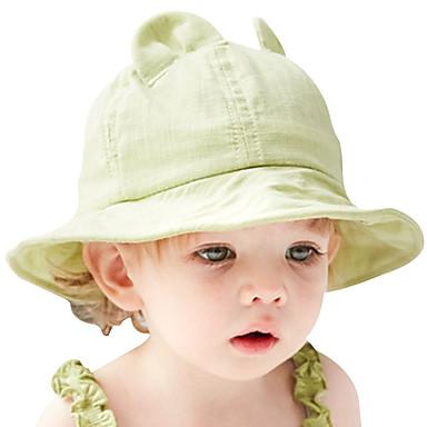 5846fb3d458 Χαμηλού Κόστους Παιδικά Αξεσουάρ-Γιούνισεξ Μονόχρωμο Ενεργό Βαμβάκι Καπέλο  ηλίου Άνοιξη Καλοκαίρι Πράσινο του τριφυλλιού