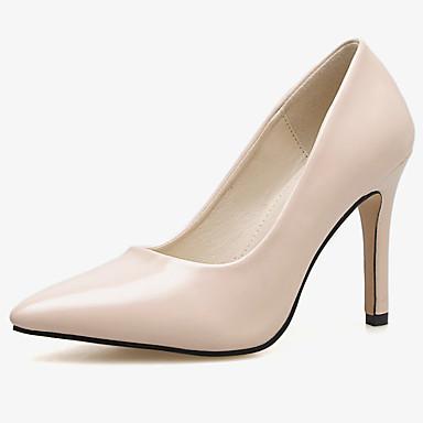 povoljno Ženske cipele-Žene Sintetika Jesen / Proljeće ljeto Ležerne prilike / minimalizam Cipele na petu Stiletto potpetica Crn / Bež