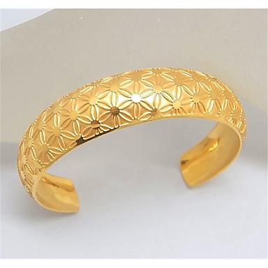 abordables Bracelet-Manchettes Bracelets Homme Classique Acier inoxydable Joie Elégant Bracelet Bijoux Dorée Argent Forme Géométrique pour Cadeau Quotidien