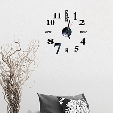 "cheap Home & Garden-Wall Clock,Modern Contemporary Fashion Acrylic Round Indoor 16"" x 16"" (40cm x 40cm)"