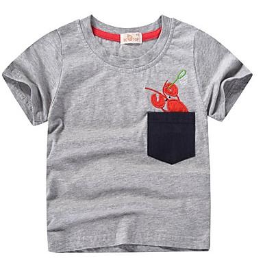 a772cac9 Barn Gutt Grunnleggende Trykt mønster Kortermet Bomull T-skjorte Blå