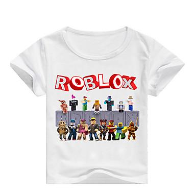 baratos Camisas para Meninos-Infantil Bébé Para Meninos Básico Estampado Estampado Manga Curta Algodão Camiseta Rosa