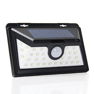billige Utendørsbelysning-1pc 5 W Solar Wall Light Lysstyring / Motion Detection Monitor Hvit 4.5 V Utendørsbelysning 34 LED perler