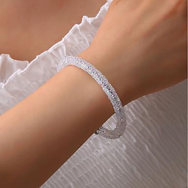abordables Bracelet-Manchettes Bracelets Femme Classique Donuts Coréen Bracelet Bijoux Blanc Noir Gris pour Vacances Travail Festival