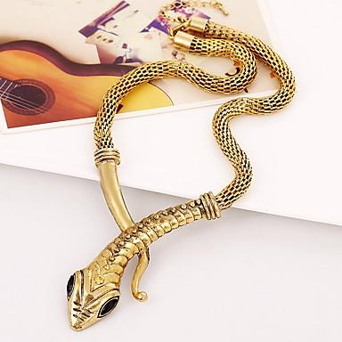 billige Mote Halskjede-Dame Choker Halskjede Slange Chrome Gull Sølv 45+5 cm Halskjeder Smykker 1pc Til Karneval