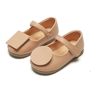 baratos Sapatos de Criança-Para Meninas Couro Ecológico Rasos Criança (9m-4ys) / Little Kids (4-7 anos) Tira no Tornozelo Preto / Rosa claro Primavera / Outono