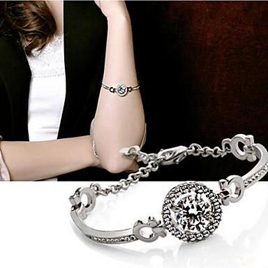 abordables Bracelet-Bracelet Jonc Femme Imitation Diamant Donuts simple Bracelet Bijoux Dorée Argent pour Quotidien