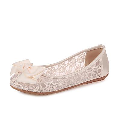 53a9bc62 billige Damesko-Dame Blonder Sommer Flate sko Flat hæl Svart / Beige
