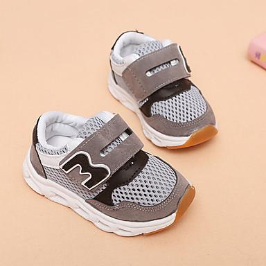 voordelige Babyschoenentjes-Jongens Oplichtende schoenen Netstof Sportschoenen Peuter (9m-4ys) / Little Kids (4-7ys) Hardlopen / Wandelen Grijs / Roze / Lichtblauw Zomer / Rubber