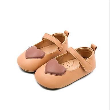 billiga För barn i åldern 0–9 månader-Flickor Syntet Platta Spädbarn (0-9m) / Småbarn (9m-4ys) Brudnäbbsskor Svart / Beige / Gul Sommar