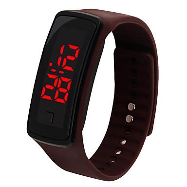 baratos Relógios Homem-Casal Relógio Esportivo Digital Borracha Preta / Azul / Marrom Não LCD Digital Fashion - Roxo Marron Azul Um ano Ciclo de Vida da Bateria