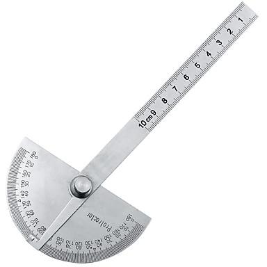 voordelige Test-, meet- & inspectieapparatuur-180 graden verstelbare hoekmeter multifunctionele roestvrij roundhead hoekliniaal wiskunde meetinstrument