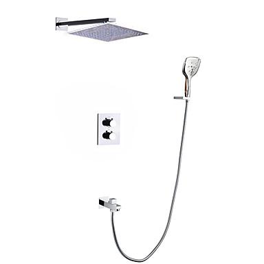 ברז למקלחת - עכשווי כרום מותקן על הקיר שסתום קרמי Bath Shower Mixer Taps