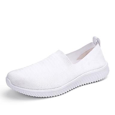 בגדי ריקוד גברים נעלי נוחות PU קיץ נעליים ללא שרוכים הליכה לבן / שחור