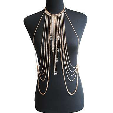 41c94cba82d Crystal Body Chain Crystal Dainty, Ladies, Bohemian, Natural, Fashion Women's  Gold / Silver Body Jewelry For Special Occasion / Gift / Casual