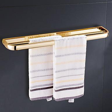 מתלה מגבת יצירתי / רב שימושי עכשווי מתכת 1pc יחיד מותקן על הקיר