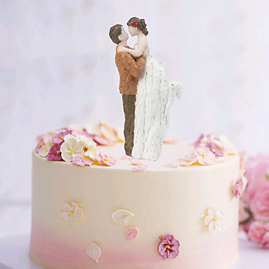 Cake Topper Beach Theme Garden Classic Couple ABS Resin Wedding Special Occasion With Solid 1 Pcs Gift Box