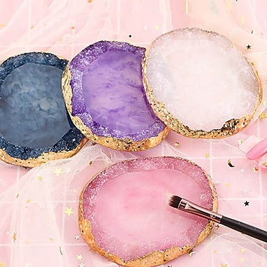 voordelige Nagelgereedschap & Apparatuur-hars agaat nagel kleurenpalet palet houder tekening nail art kleurenpalet voor nagelkleur meng display nail art tools