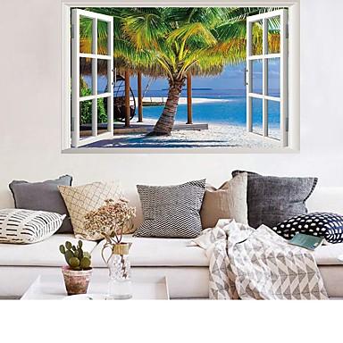החוף קוקוס עץ נוף מדבקות קיר - מילים& ציטוטים ampamp קיר מדבקות תווים חדר לימוד / משרד / חדר אוכל / מטבח
