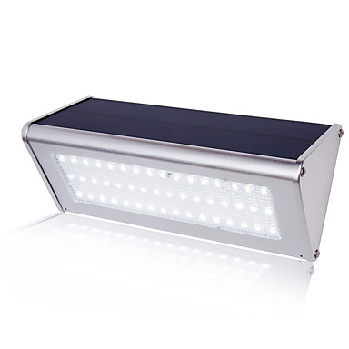 1pc 6 W תאורת קירות חוץ / אור רחוב עמיד במים / סולרי / עיצוב חדש לבן 3.7 V 48 LED חרוזים