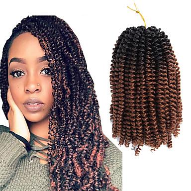 שיער קלוע מתולתל צמות טוויסט אפר קינקי צם צמות מתולתלות שיער סינטטי 1pack שיער צמות צבע טבעי Report 12 סינטטי איכות מעולה שיער באונס ג'מייקני Party Halloween לבוש ליום צמות אפריקאיות / שיער אומבר