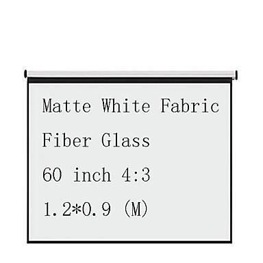 4:3 60 אִינְטשׁ סיב זכוכית מסך על מעמד מהקיר