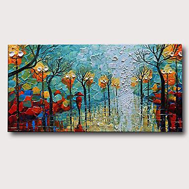 ציור שמן צבוע-Hang מצויר ביד - L ו-scape נוף אבסטרקט קלסי מודרני ללא מסגרת פנימית
