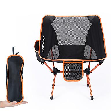 رخيصةأون مفروشات التخييم-كرسي تخييم قابل للطي مع الجيب الجانبي متعددة الوظائف خفيف جدا (UL) قابلة للطى قابلة للطي 7075 الألومنيوم شبكة إلى 1 تخييم السفر الربيع، الخريف، الشتاء، الصيف برتقالي أحمر أزرق داكن