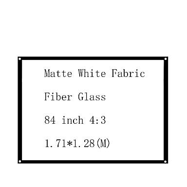 billige Projektortilbehør-4:3 84 tommers Glassfiber Veggmontert Skjerm