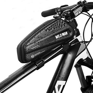 abordables Sacoches de Vélo-1 L Sac Cadre Velo Etanche Portable Zip étanche Sac de Vélo faux cuir EVA Sac de Cyclisme Sacoche de Vélo Cyclisme Vélo Cyclisme