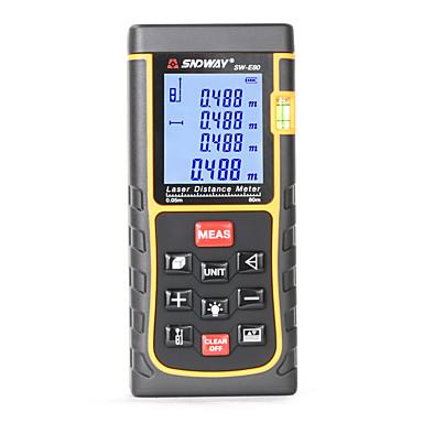 voordelige Test-, meet- & inspectieapparatuur-Sndway sw-e80 80m digitale laser afstandsmeter laser afstandsmeter afstandsmeter finder bouwen maatregel apparaat heerser